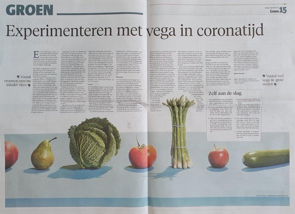 Proveg in de dagbladen van Holland Media Combinatie