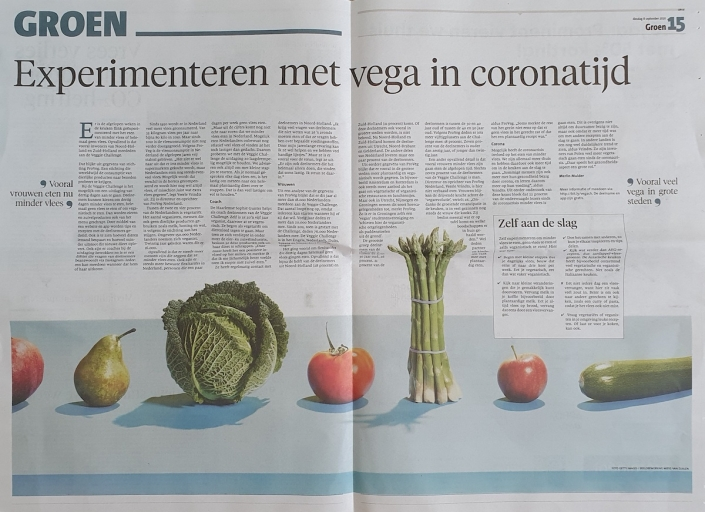 Proveg in de dagbladen van Holland Media Combinatie
